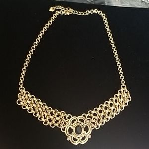 High Quality Custom necklace gold black stone
